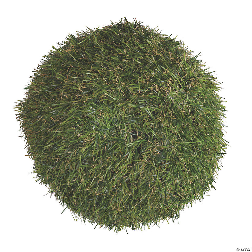 "Vickerman 7.25"" Artificial Green Grass Ball - 2/pk Audio Thumbnail"