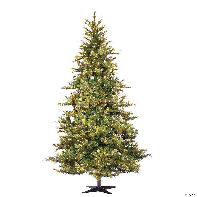 Vickerman 7.5' Mixed Country Pine Slim Christmas Tree with Clear Lights Image Thumbnail