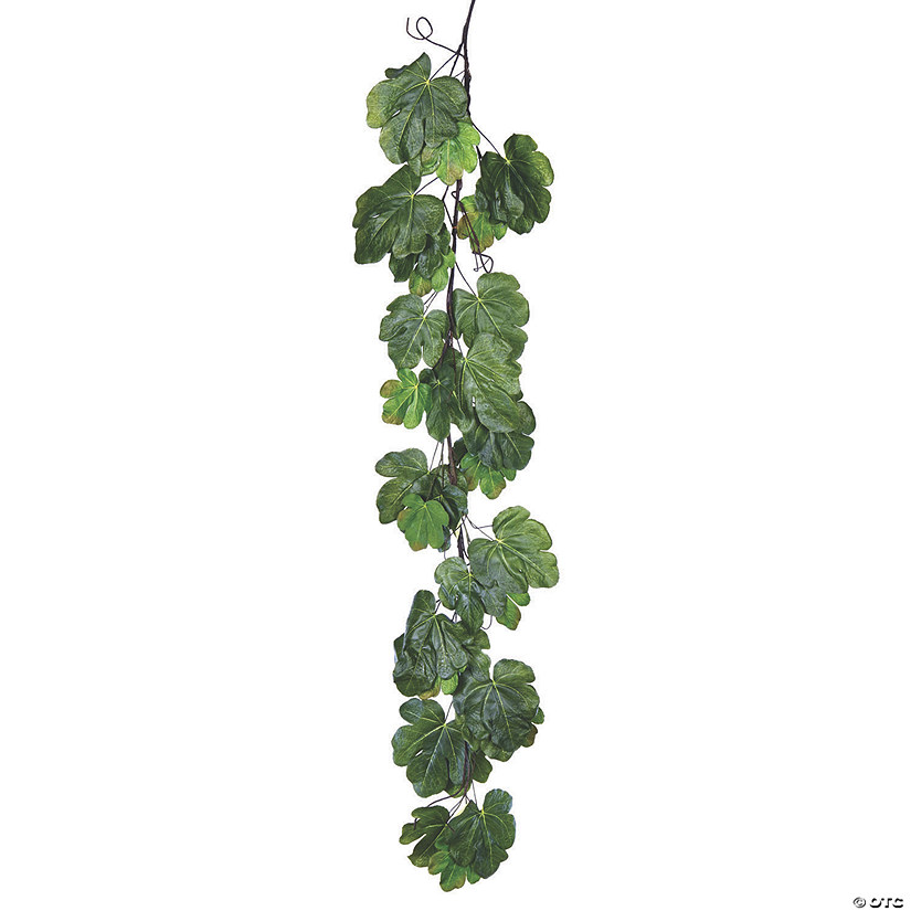 "Vickerman 72"" Green Fig Leaf Garland Audio Thumbnail"