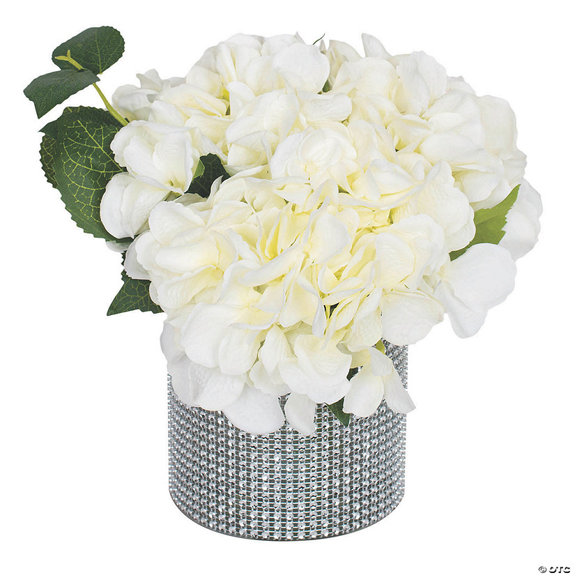 "Vickerman 9"" Cream Hydrangea Arrangement Audio Thumbnail"