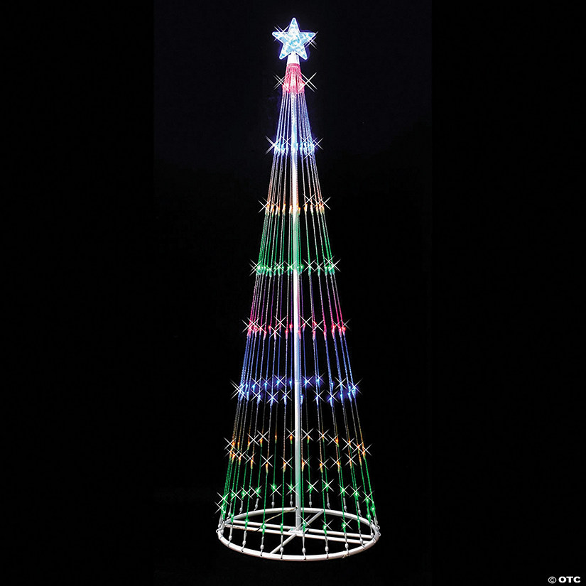 Vickerman Outdoor 6' Christmas Show Tree with Multi-Colored LED Lights Image Thumbnail