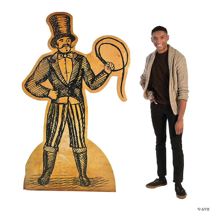 Vintage Circus Performer Cardboard Stand-Up Audio Thumbnail