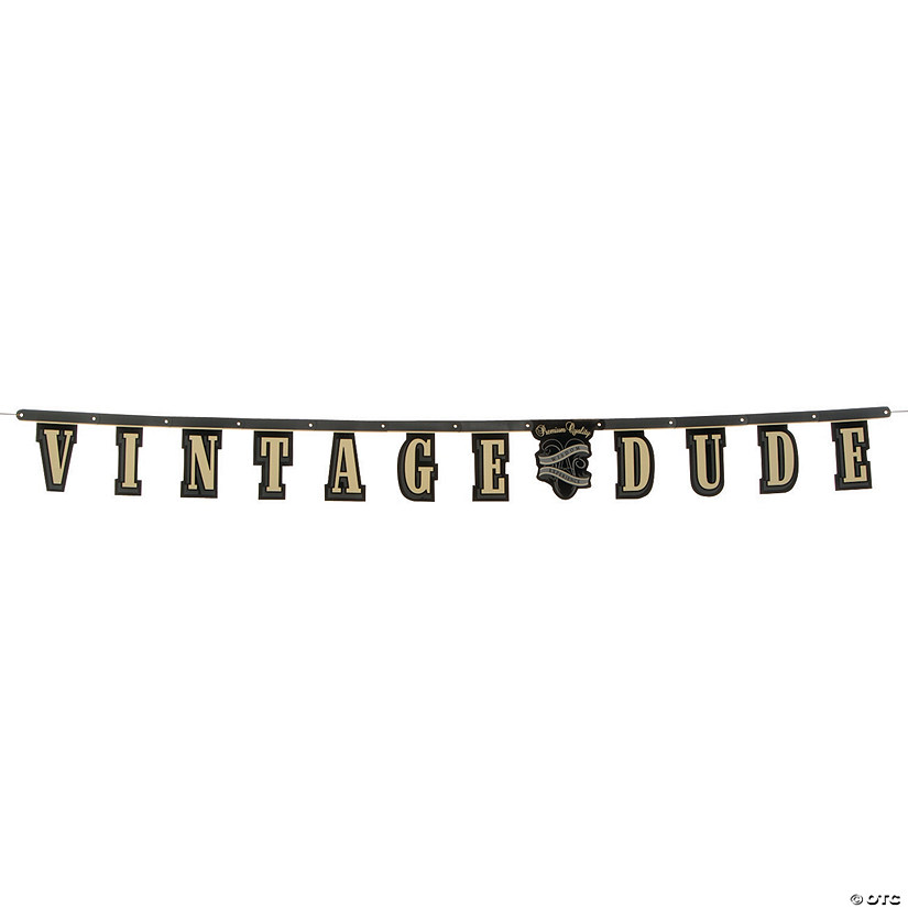 Vintage Dude Birthday Jointed Banner Audio Thumbnail