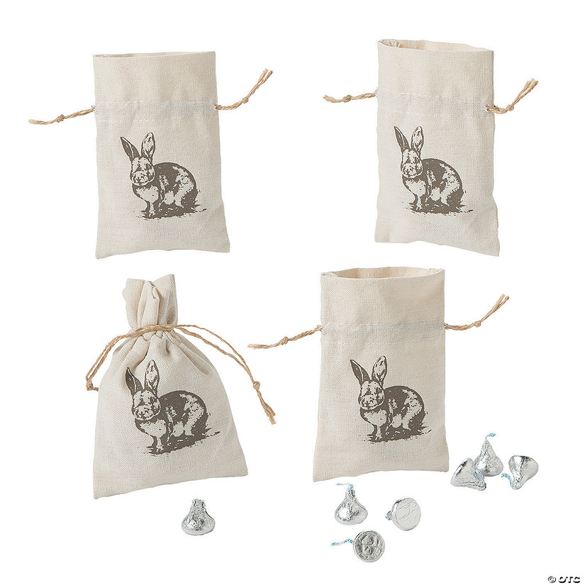 Vintage Easter Drawstring Treat Bags Image Thumbnail