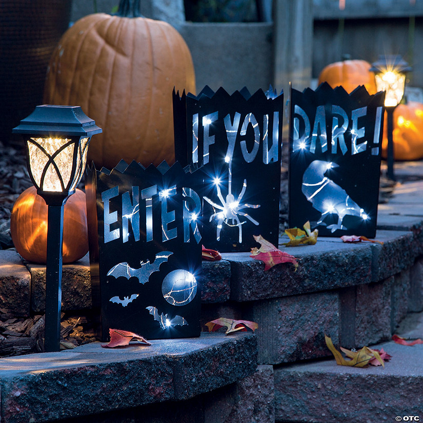Vintage Halloween Metal Luminaries