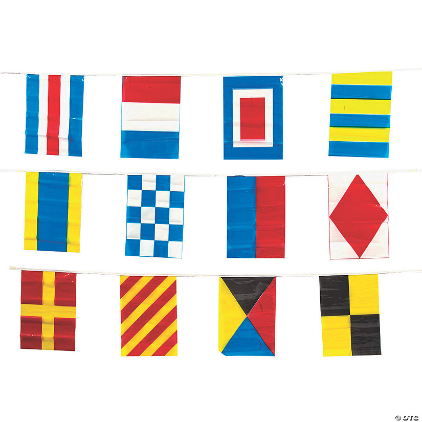 Vinyl Nautical Line-Of-Flags