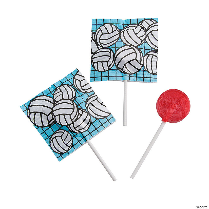 Volleyball Printed Lollipops