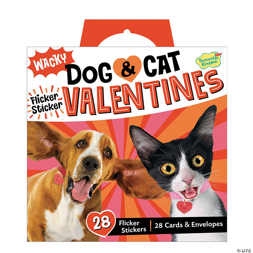 Wacky Dog & Cat Flicker Sticker Super Fun Valentine Pack Image Thumbnail
