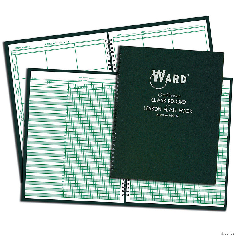 Ward Combination Class Record and Lesson Plan Books - Set of 3 combos