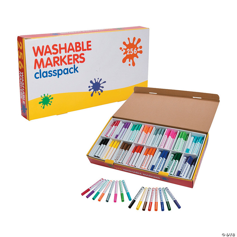 Washable Marker 16-Color Classpack