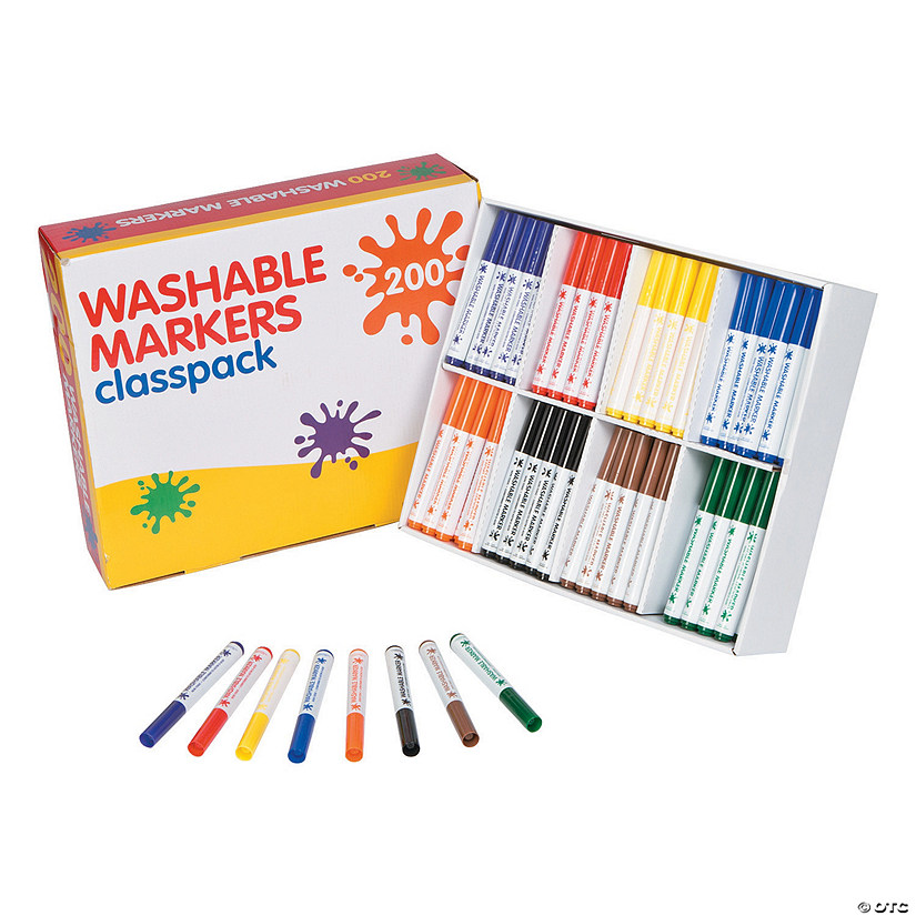 Washable Marker 8-Color Classpack