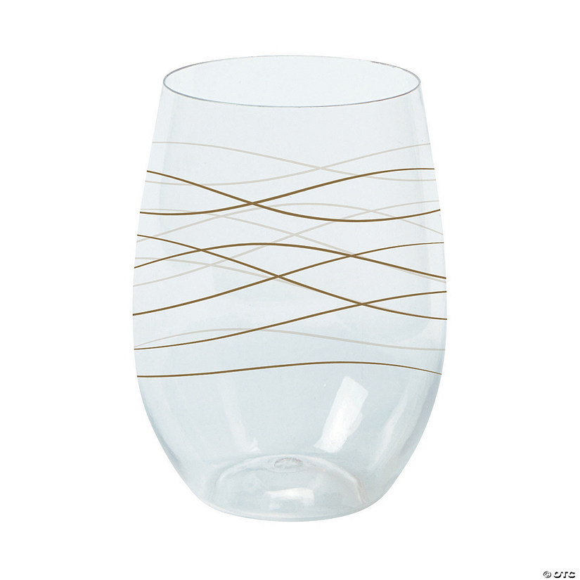 Wavy Stemless Plastic Wine Glasses Audio Thumbnail