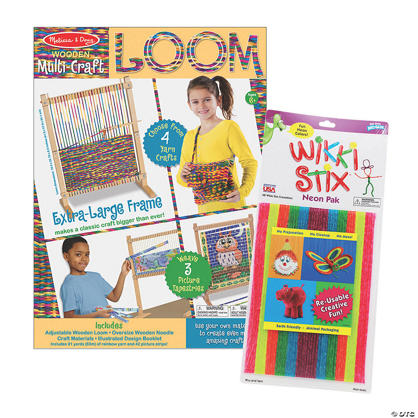 Weaving & Wax Sticks Arts & Crafts Boredom Buster Kit Image Thumbnail