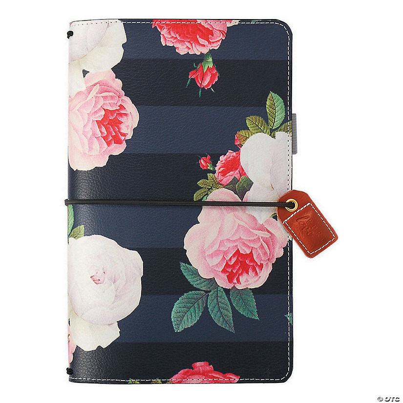 "Webster's Pages Color Crush Traveler's Notebook Planner 5.75""X8.75""-Black Floral"