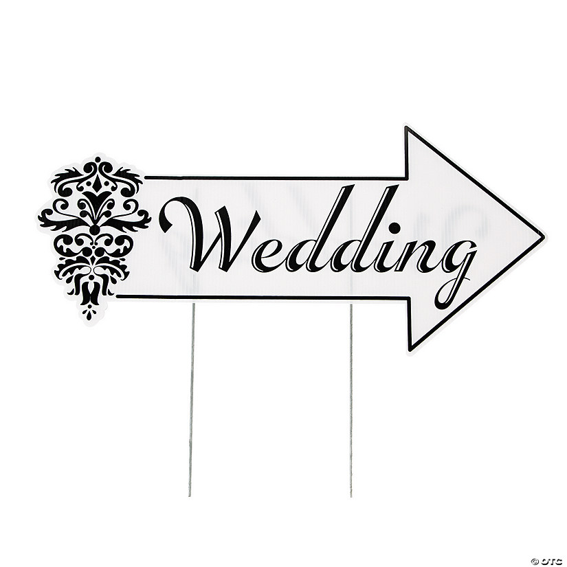 Wedding Directional Yard Sign Audio Thumbnail