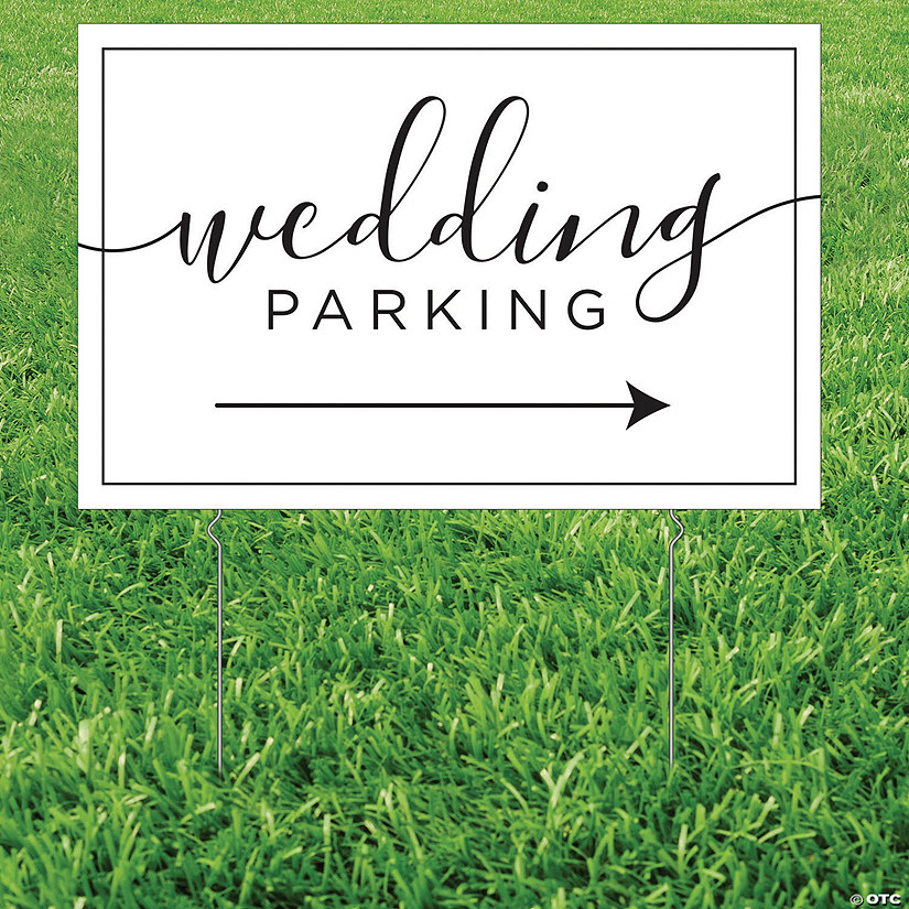 Wedding Parking Yard Sign Image Thumbnail