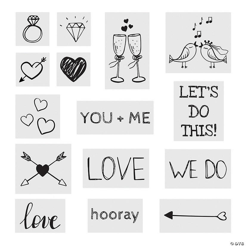 Wedding Temporary Tattoo Assortment Image Thumbnail