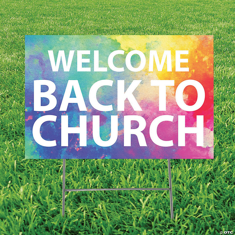 Welcome Back to Church Yard Sign Audio Thumbnail
