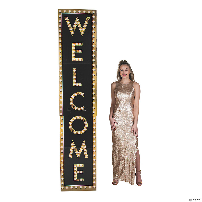 Welcome Marquee Column Cardboard Stand-Up Audio Thumbnail