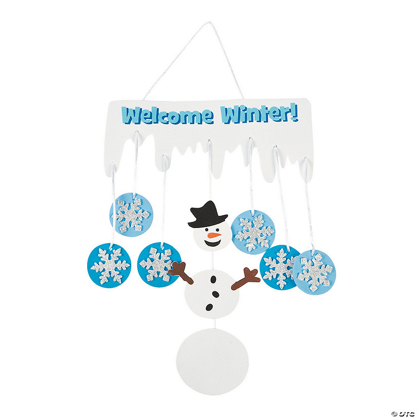 Welcome Winter Snowman Mobile Craft Kit