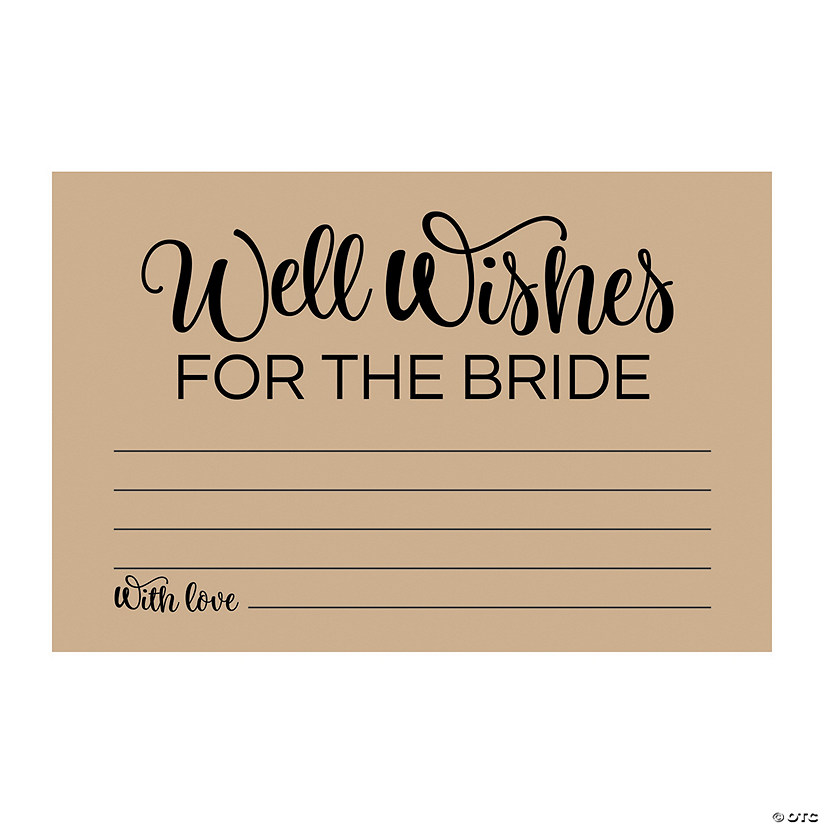 Well Wishes for the Bride Cards Image Thumbnail