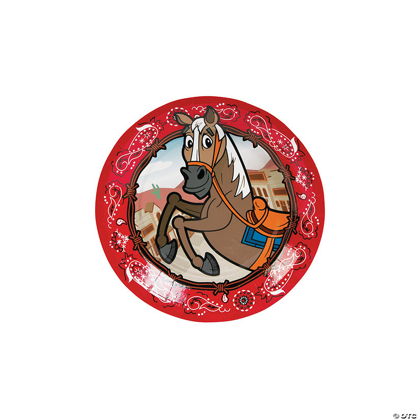 Western Party Paper Dessert Plates - 8 Ct. Audio Thumbnail