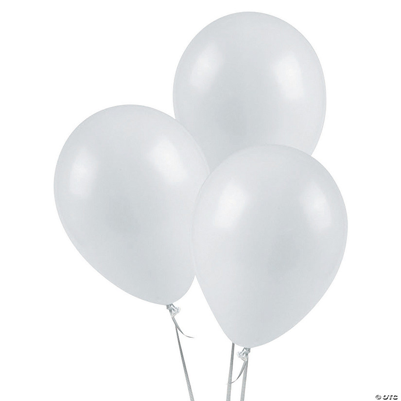 "White 5"" Latex Balloons"