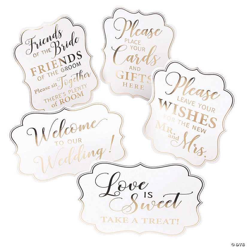 White & Gold Wedding Signs Audio Thumbnail
