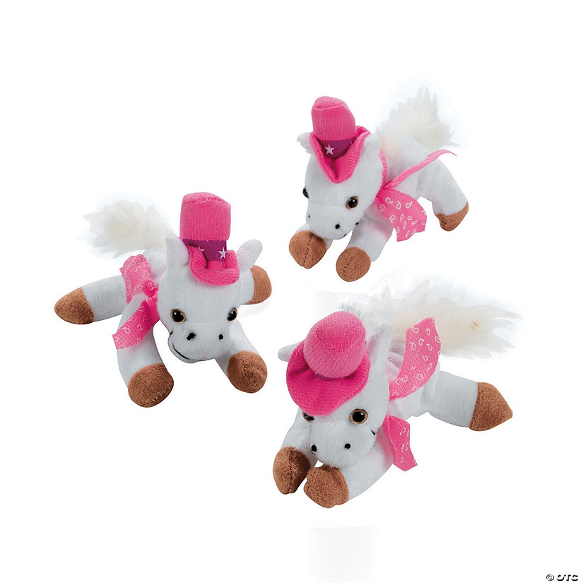 White & Pink Cowgirl Stuffed Horses Audio Thumbnail
