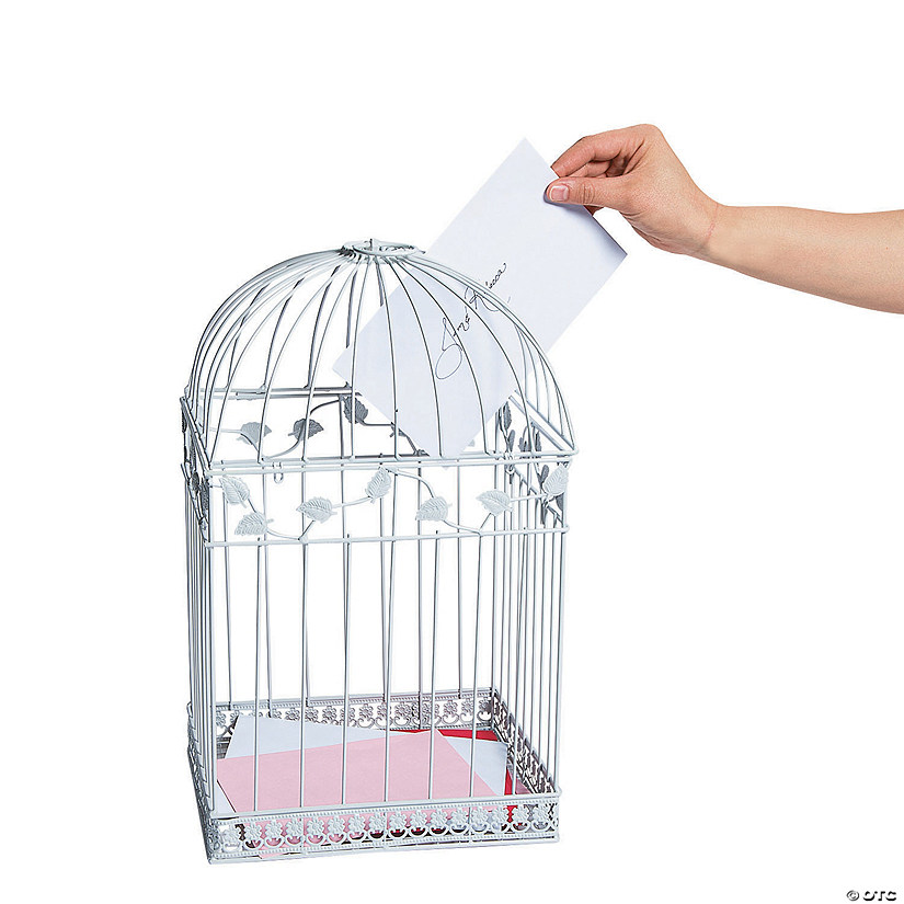 White Birdcage Card Holder Audio Thumbnail
