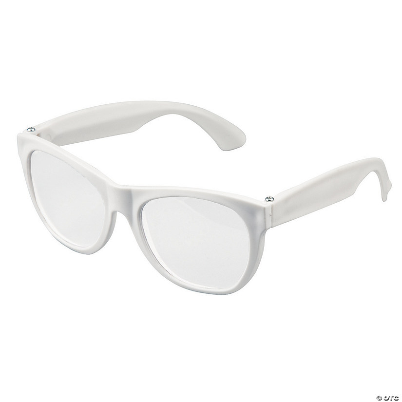 White Clear Lens Glasses - 12 Pc. Audio Thumbnail