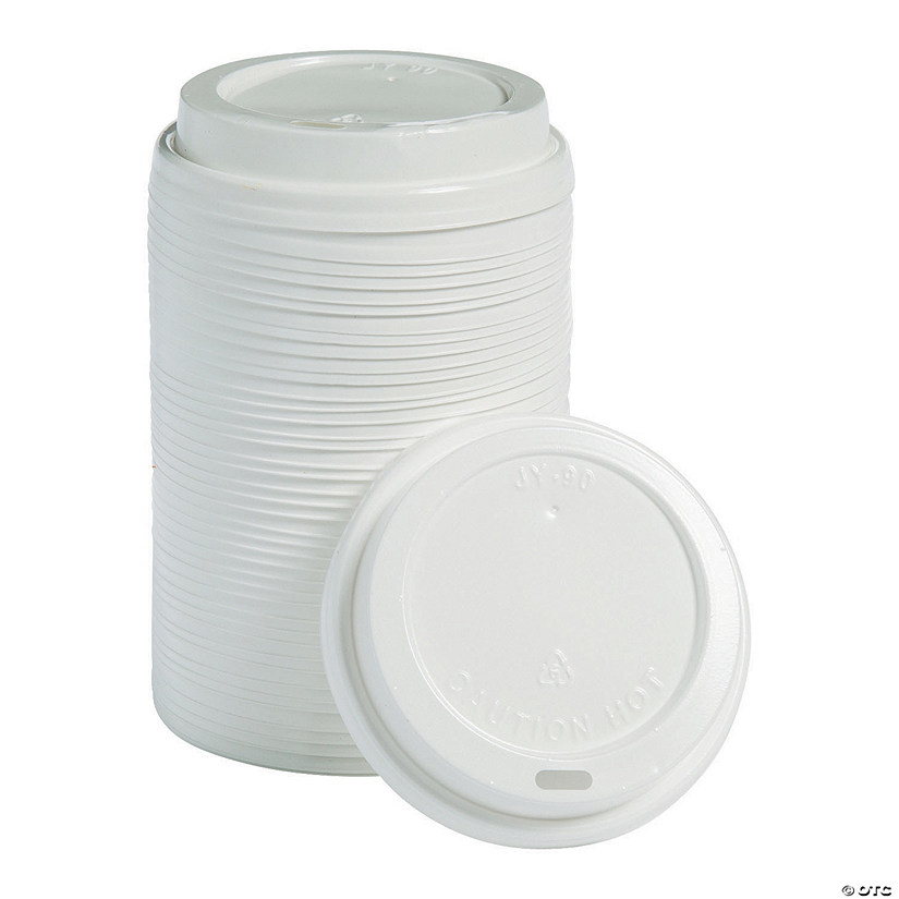 White Coffee Cup Plastic Lids