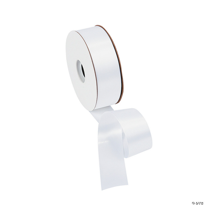 "White Double Faced Satin Ribbon - 1 1/2"" Audio Thumbnail"