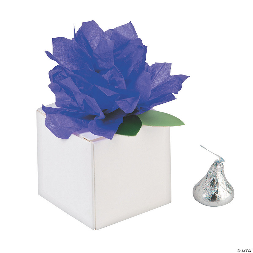 White Favor Boxes with Purple Tissue Flower - Less Than Perfect Audio Thumbnail