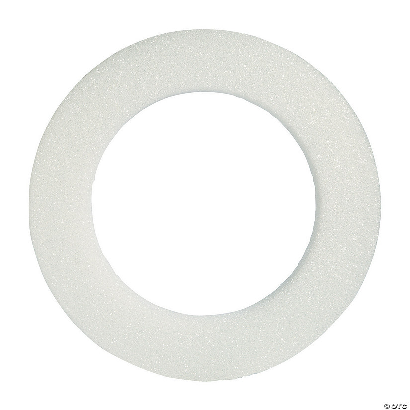 White Foam Wreath - Large