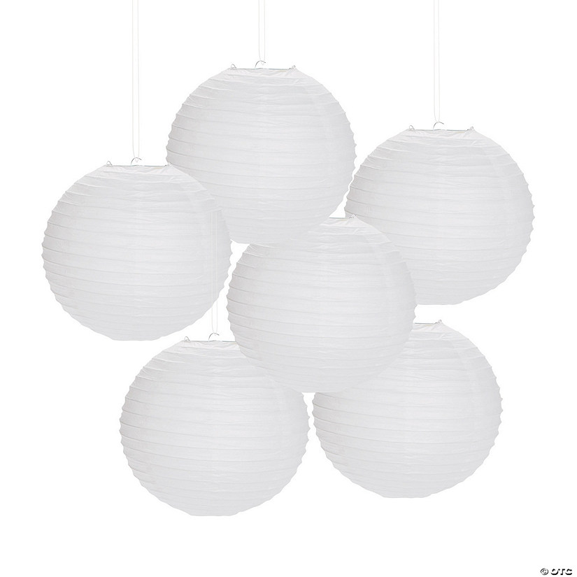 White Hanging Paper Lanterns
