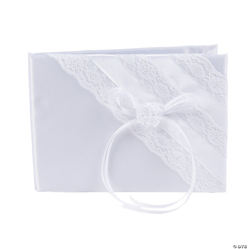White Lace Wedding Guest Book Audio Thumbnail