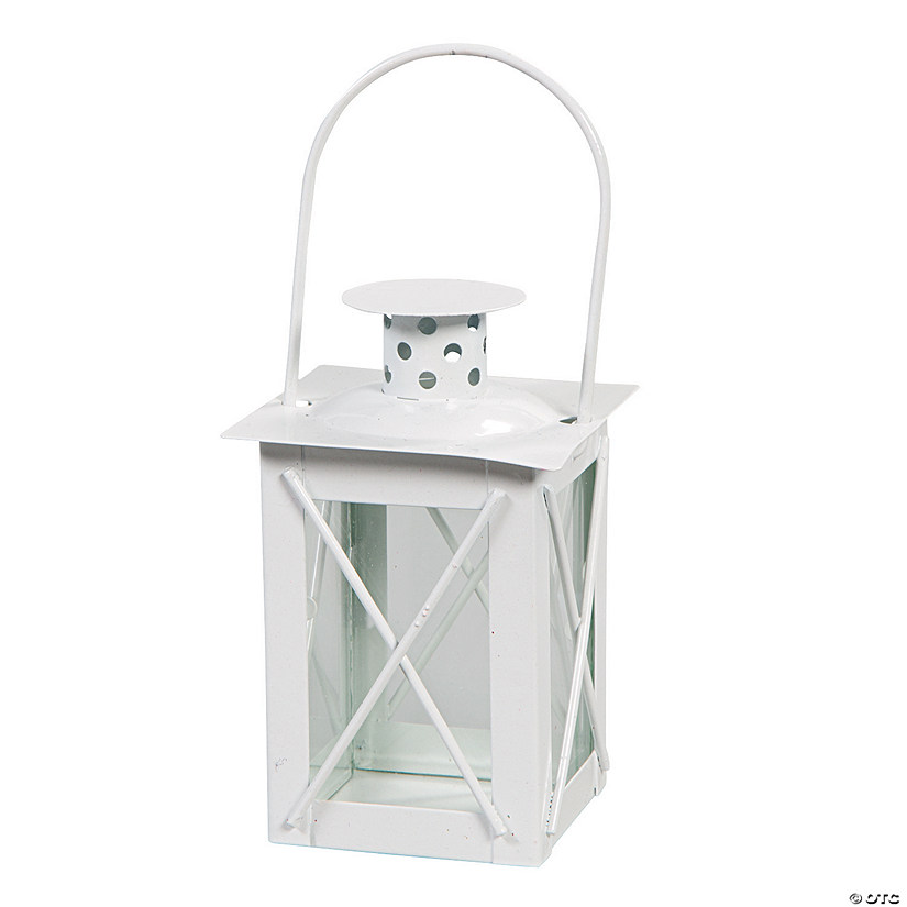 White Metal Mini Lantern Image Thumbnail