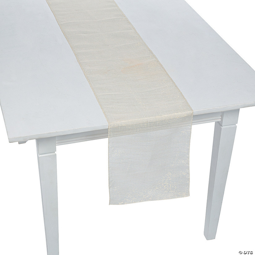 White Metallic Linen Table Runner Audio Thumbnail