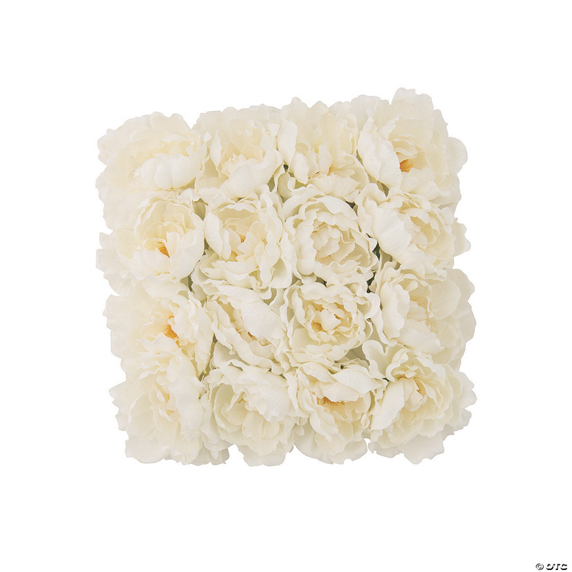 White Peony Floral Mat