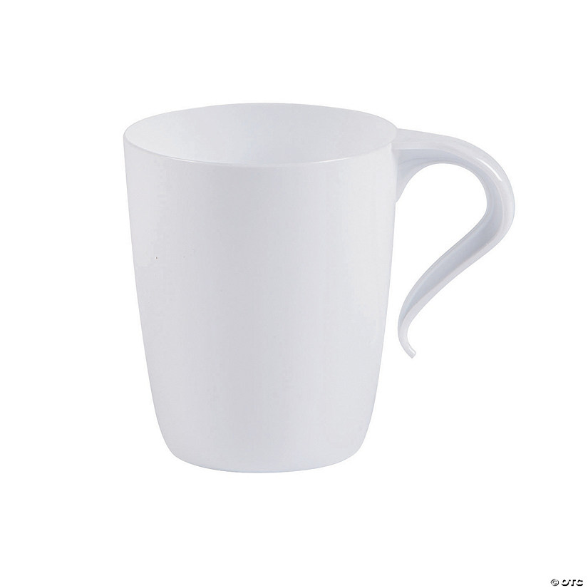 White Plastic Coffee Mugs Oriental