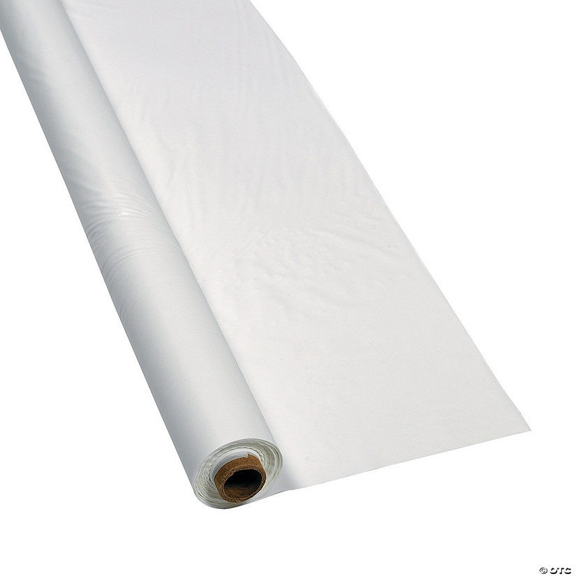White Plastic Tablecloth Roll