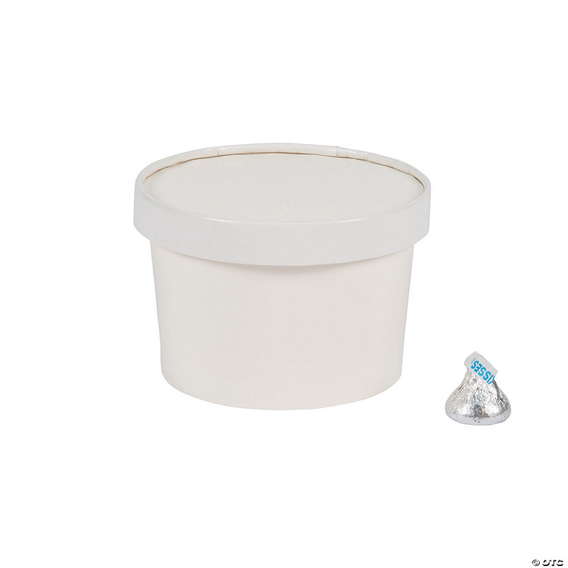 White Round Favor Boxes with Lid Audio Thumbnail