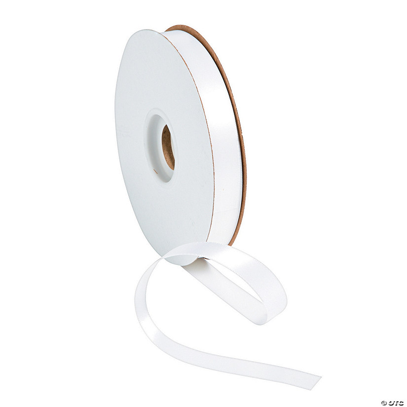 White Satin Ribbon - 5/8""