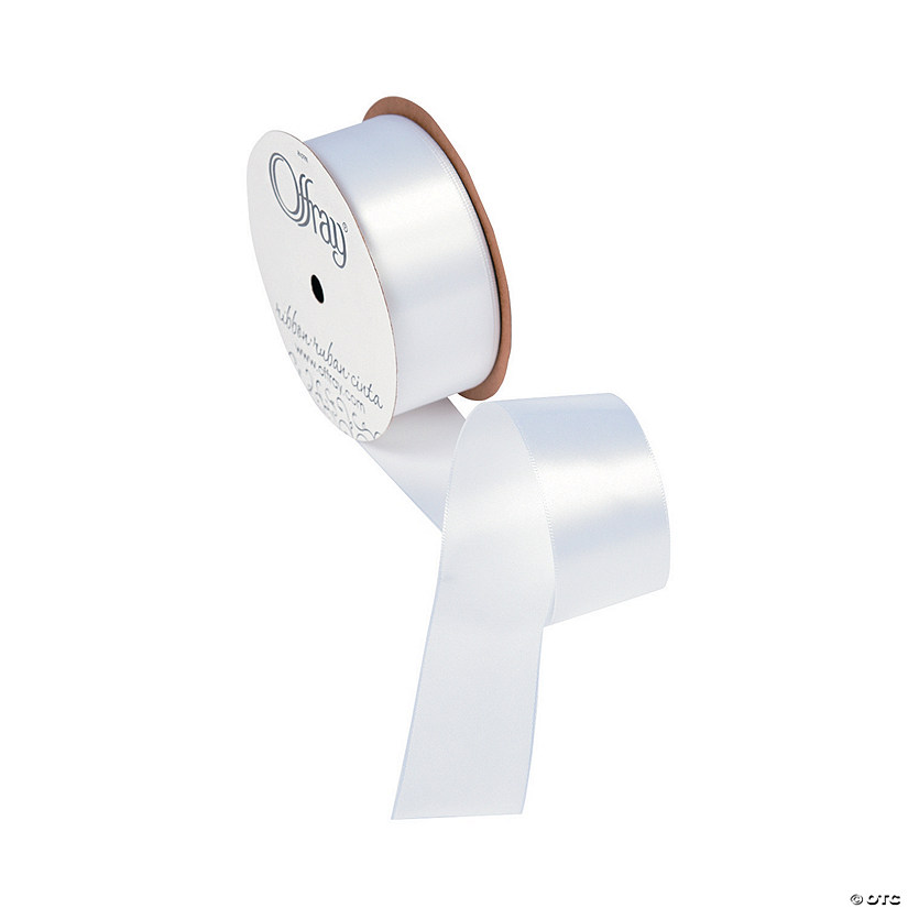 "White Single Faced Satin Ribbon - 1 1/2"" Audio Thumbnail"