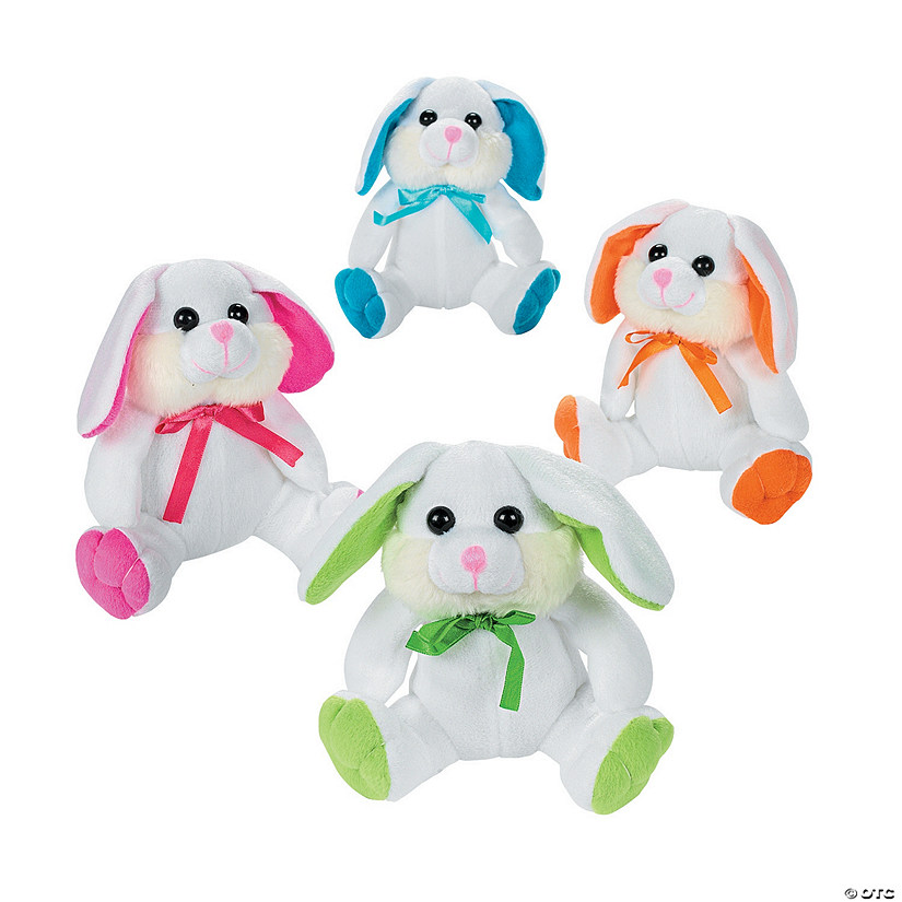 White Stuffed Easter Bunnies Image Thumbnail
