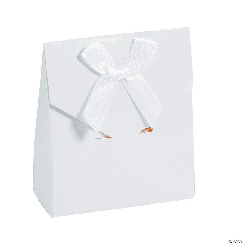 White Tented Favor Boxes