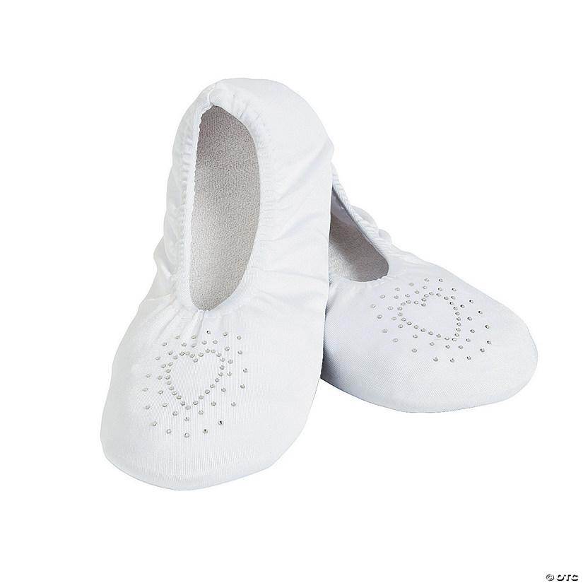 White Wedding Slippers - L/XL Audio Thumbnail