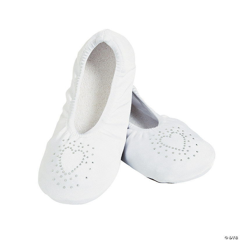 White Wedding Slippers - S/M