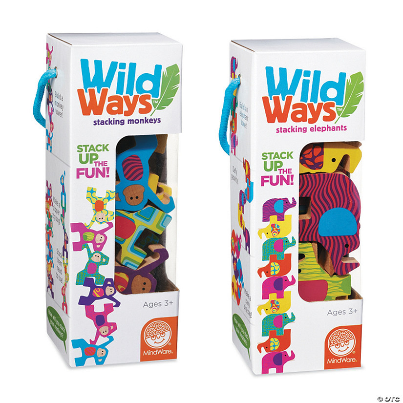 Wild Ways Stacking Wooden Animals: Set of 2 Image Thumbnail